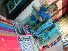 Nice and affordable scarf, Fresh mushroom with bacon wrap, Chatuchak Weekend Market