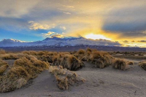 Tongariro Glacier Sunset, New Zealand