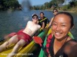 Fun kayak in Vang Vieng