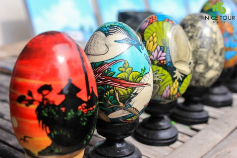 Egg Painting Art Ubud