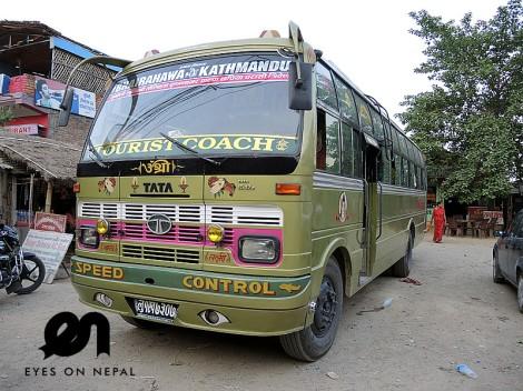 tourist bus lumbini kathmandu no air con