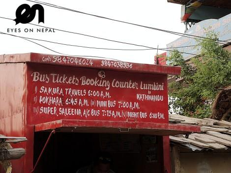 tourist bus ticket from lumbini